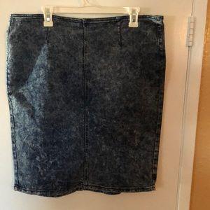 Dresses & Skirts - Blue jean pencil skirt